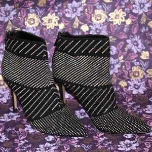 Express Shoes - Studded Heeled Booties